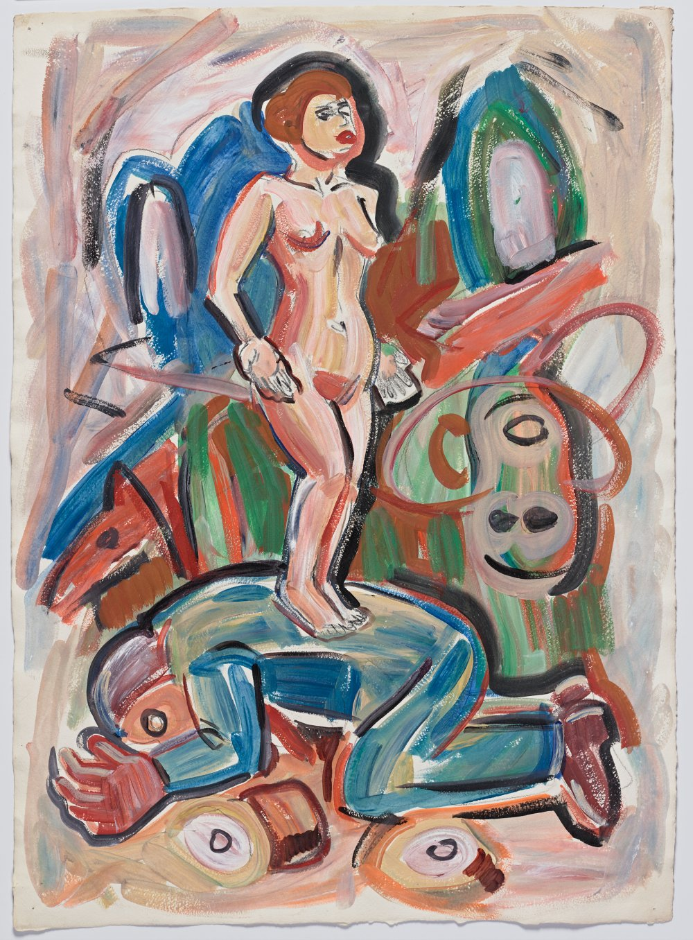 Untitled (Nude Woman on Lying Man)
