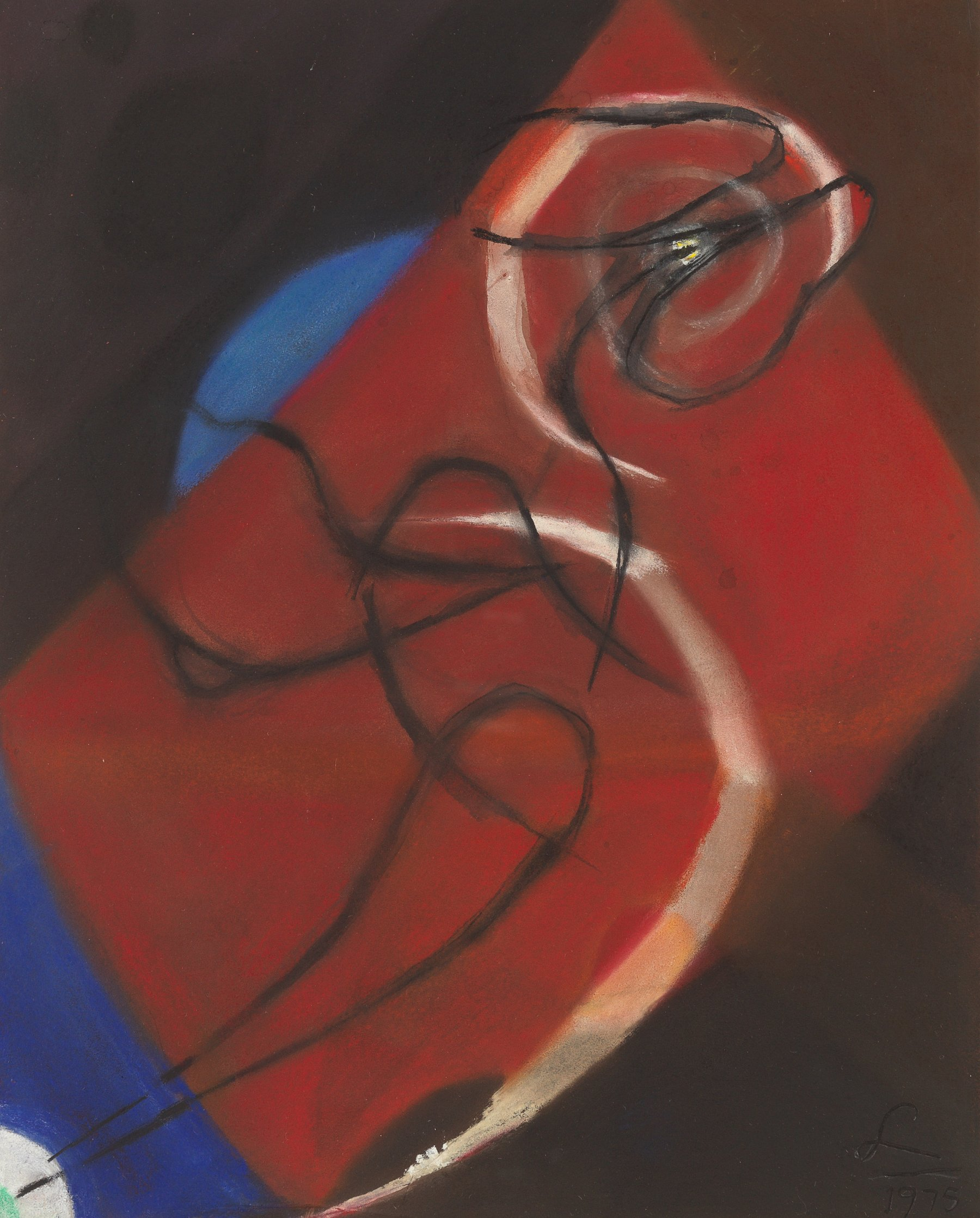 Pastel Study for Painting No. 3, 1975