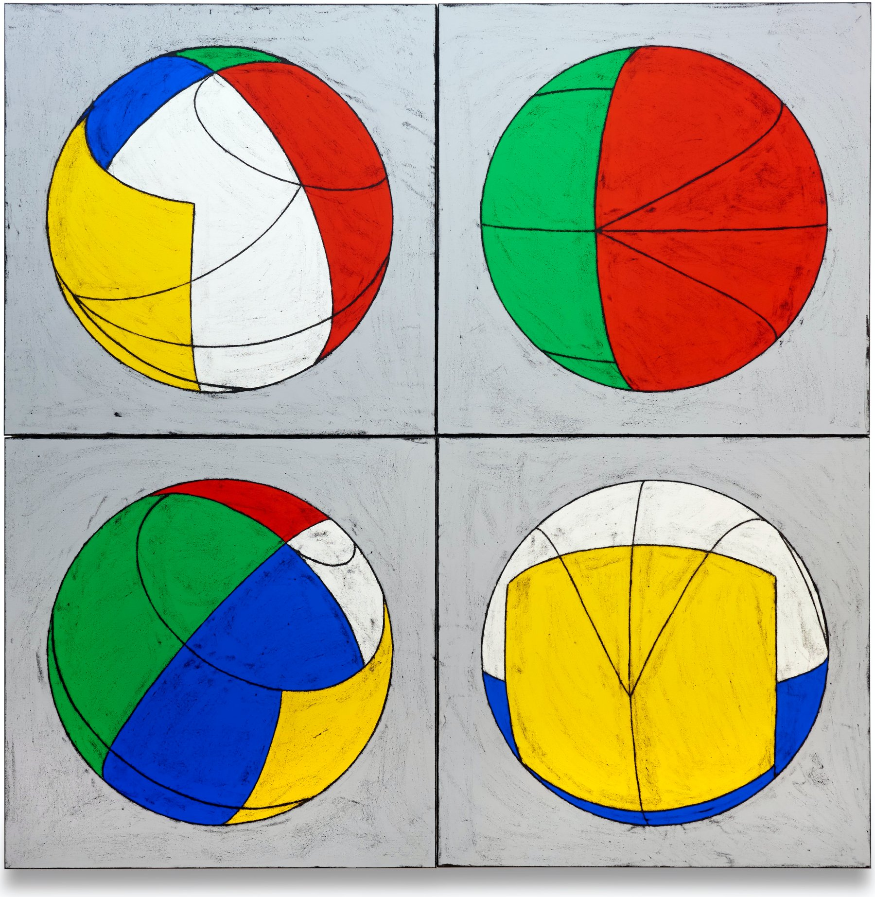 Untitled (Five Worlds mapped on a sphere B)
