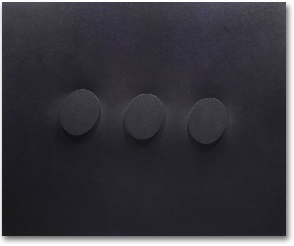 3 ovali neri sovrapposti