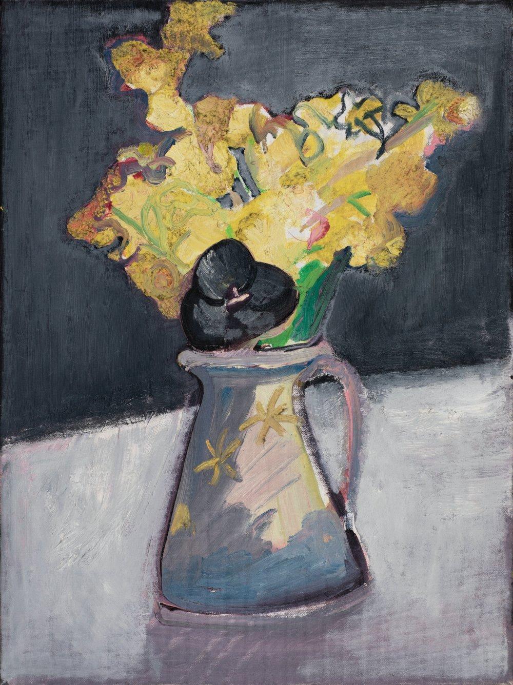 Daffs with Black Tulip