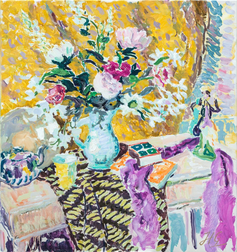 Still Life in Yellow and Pink