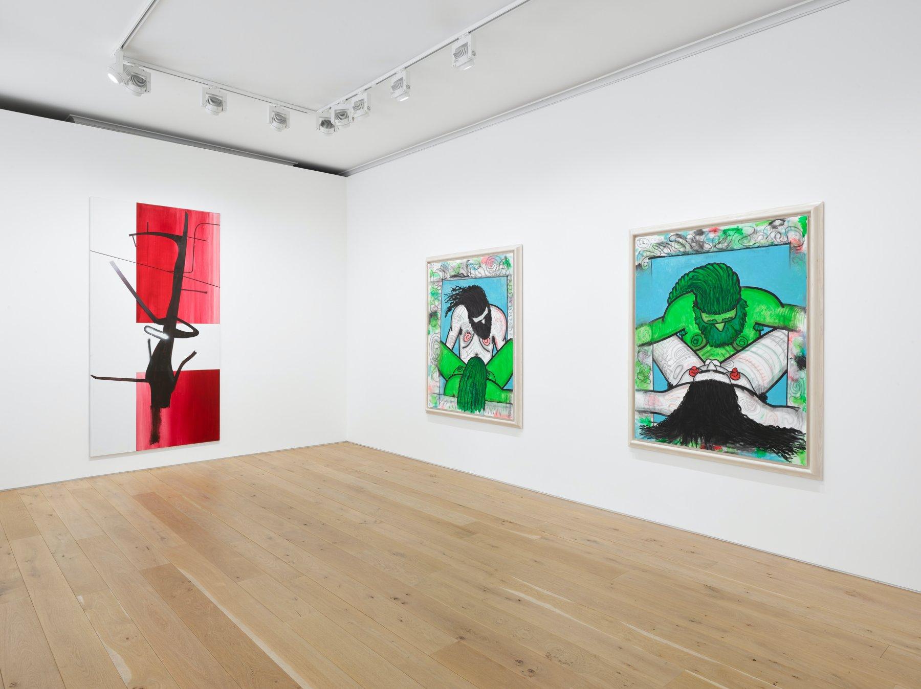 Galerie Max Hetzler London Carroll Dunham Albert Oehlen 1