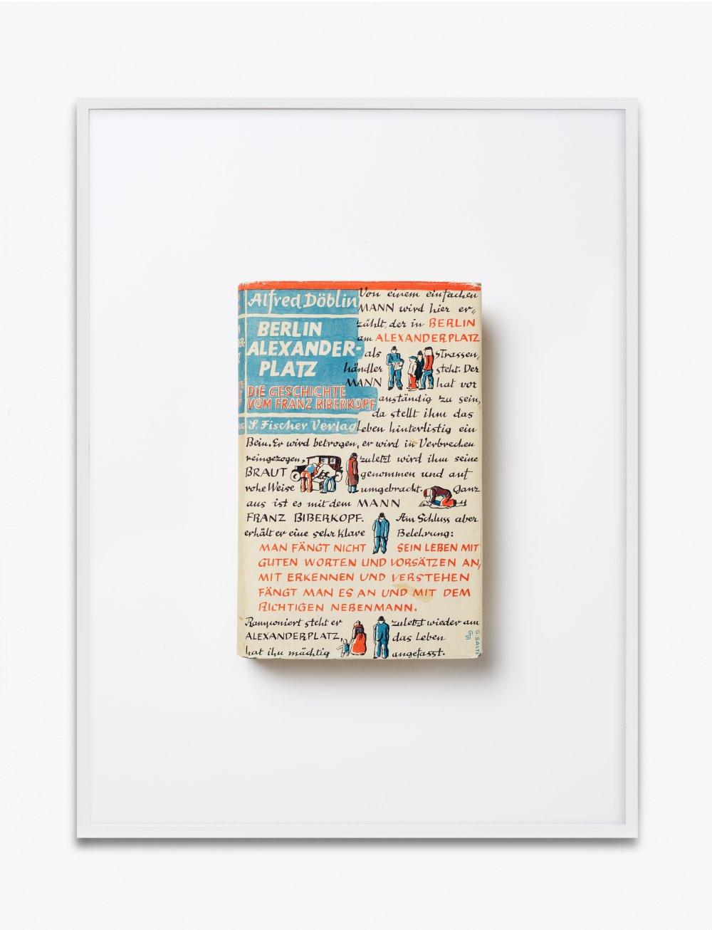 Alfred Döblin, Berlin Alexanderplatz. Die Geschichte vom Franz Biberkopf, 1931, S. Fischer Verlag, Berlin, Einbandgestaltung Georg Salter