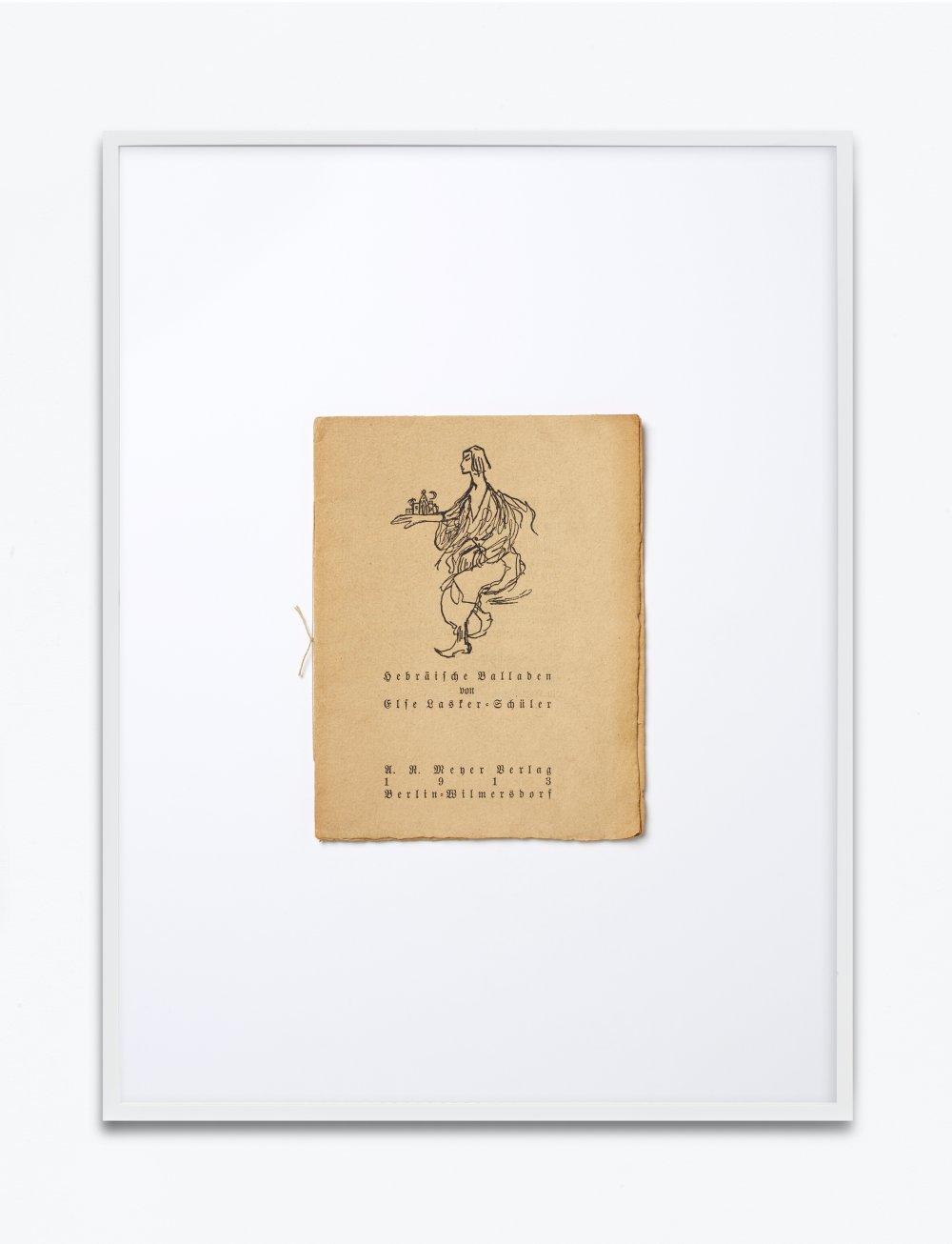 "Else Lasker-Schüler, Hebräische Balladen, 1913, U.R. Mener Verlag, Berlin Wilmersdorf, Einbandgestaltung Else Lasker-Schüler, ""Jussufs Versunkenheit"""