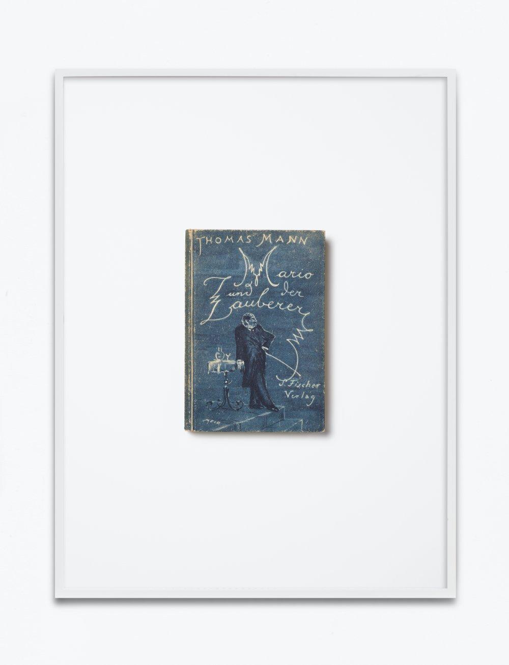 Thomas Mann, Mario der Zauberer. Ein tragisches Reiseerlebnis, 1930, S. Fischer Verlag, Berlin, Einband, Vorsatz und dreizehn Textbilder von Hans Meid
