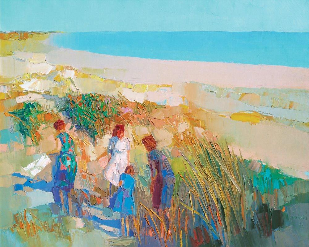 Figure in riva al mare