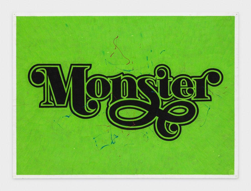 MONSTER (Green/Black Curlicue)