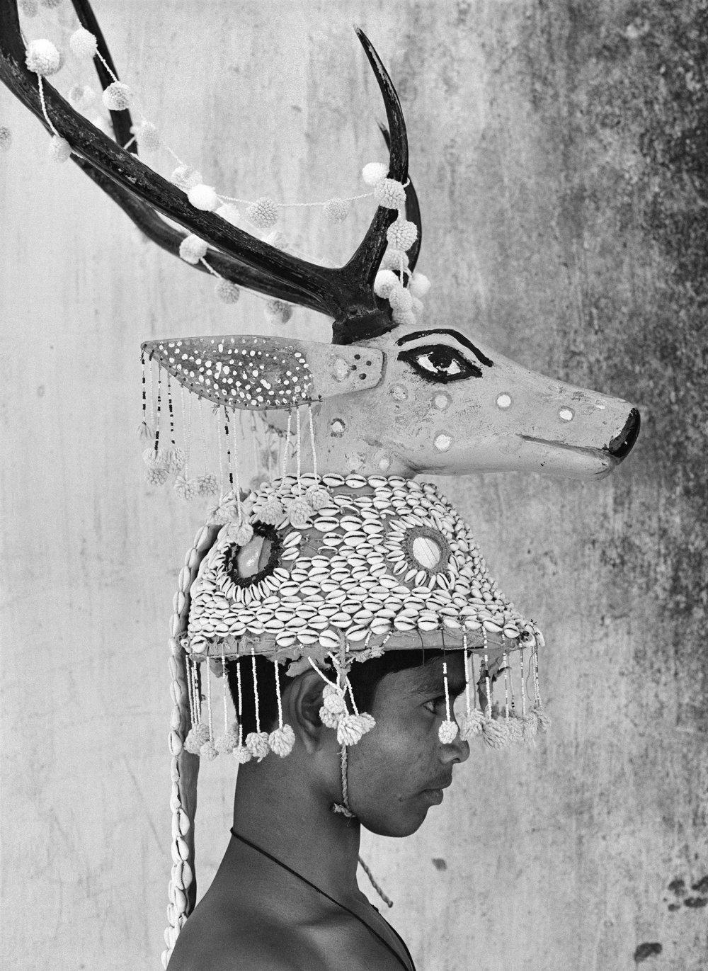 Deer-horn Dancer. Village Bahigaon, Bastar, India