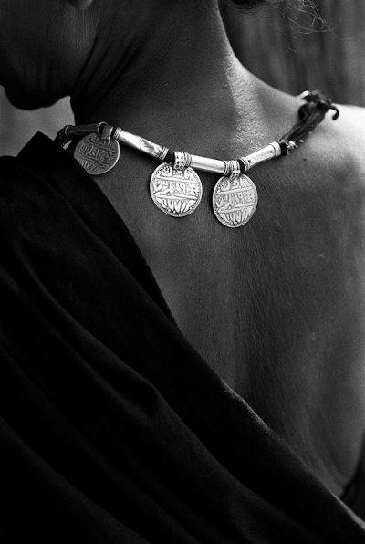 Woman with jewellery. Village Benur, Bastar, India