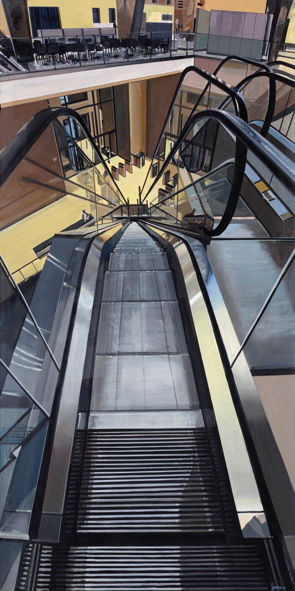 Escalator in Hearst Tower