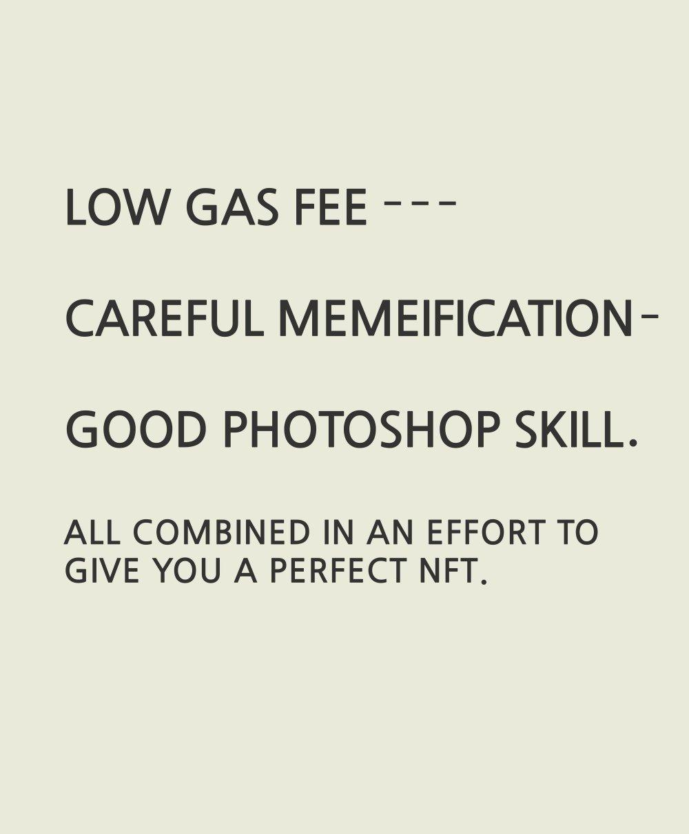 LOW GAS FEE