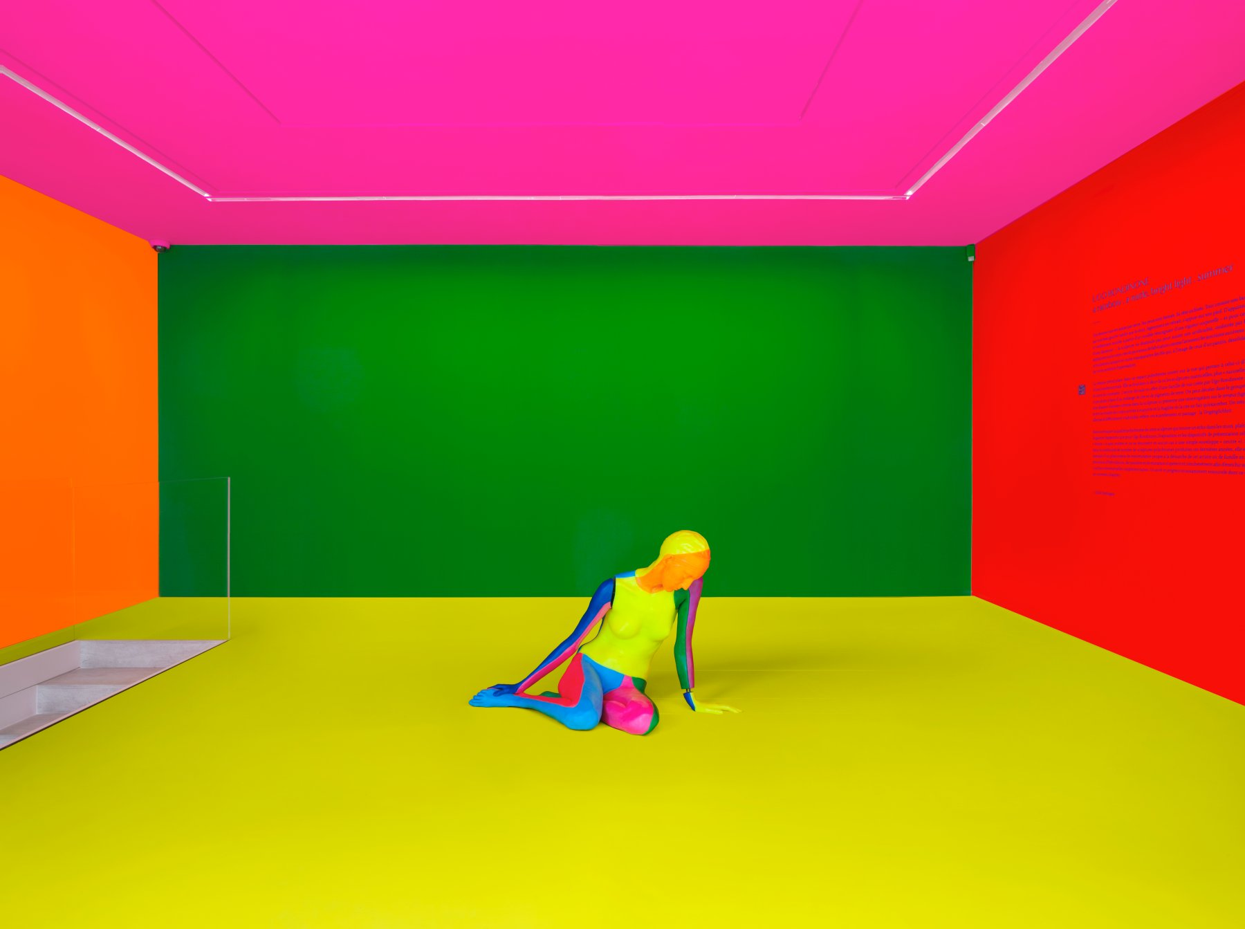 kamel mennour Ugo Rondinone a rainbow 1