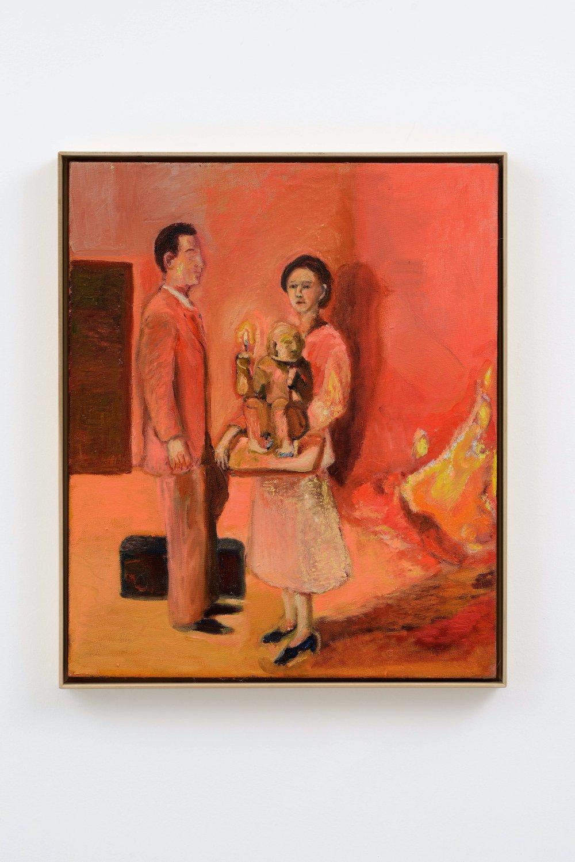 Fire of a sculptural portraits