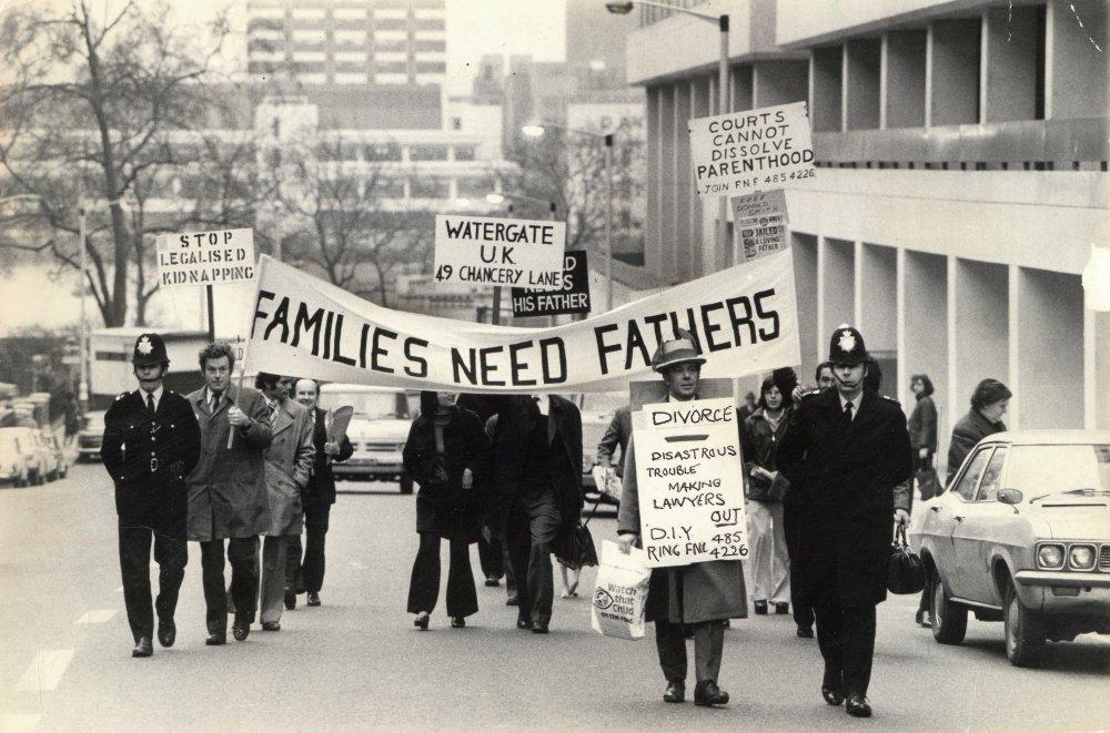Families Need Fathers protest, London, E Hamilton-West
