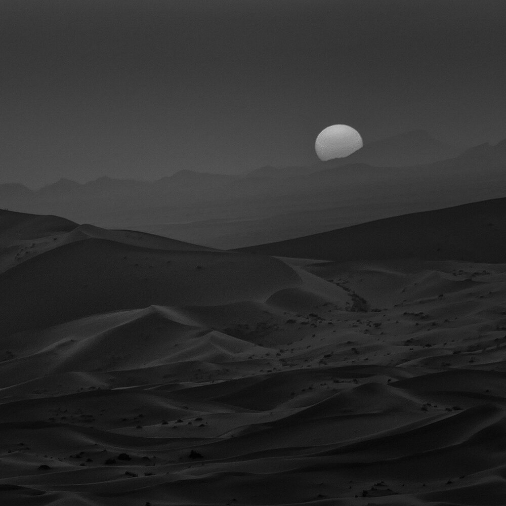 Dusk Merzouga 03. Merzouga, Sahara Desert, Morocco