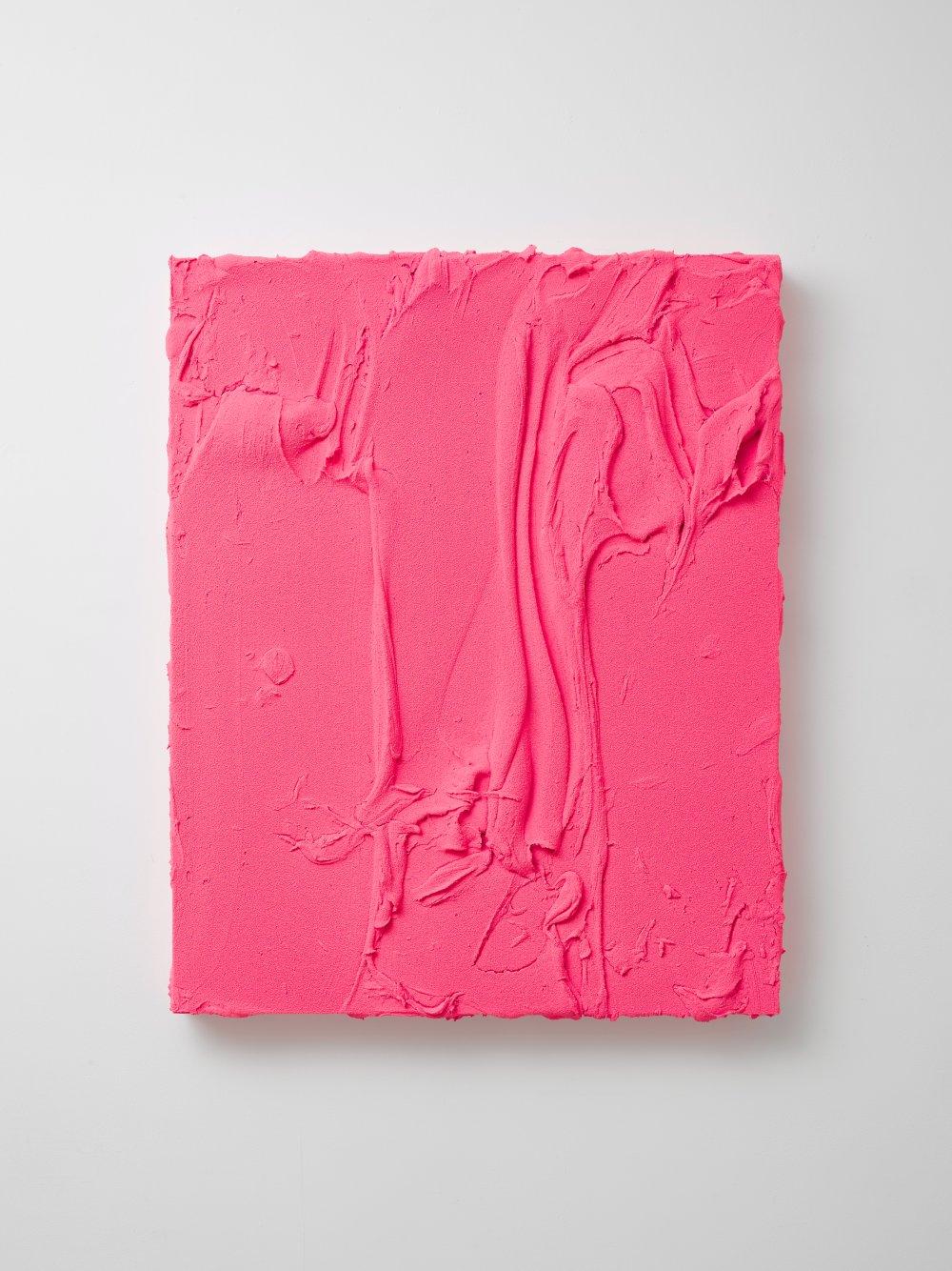Untitled (Fluorescent pink / Titanium white)