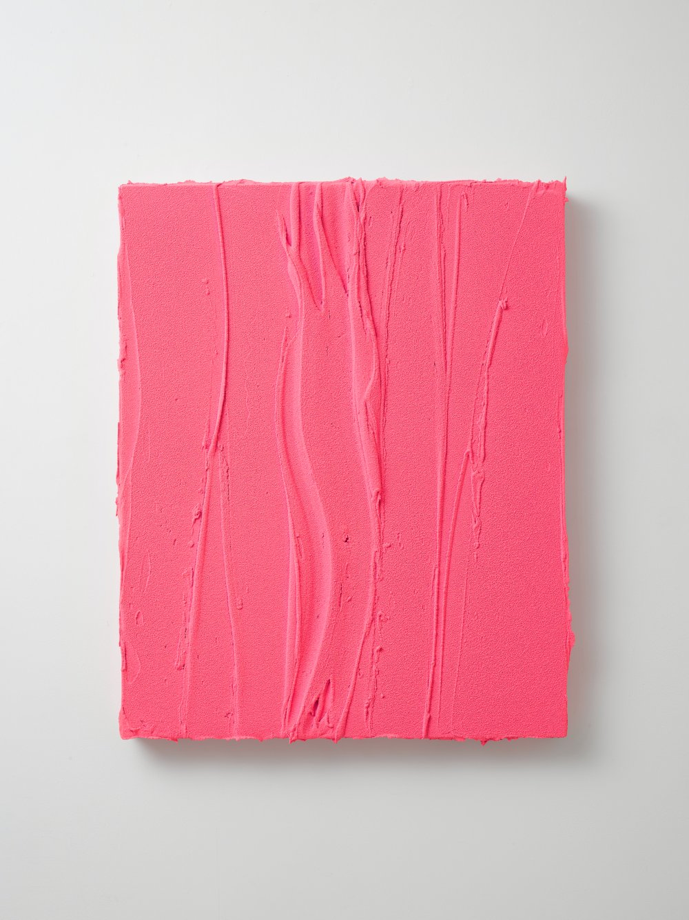 Untitled (Fluorescent pink / Rosso laccato)
