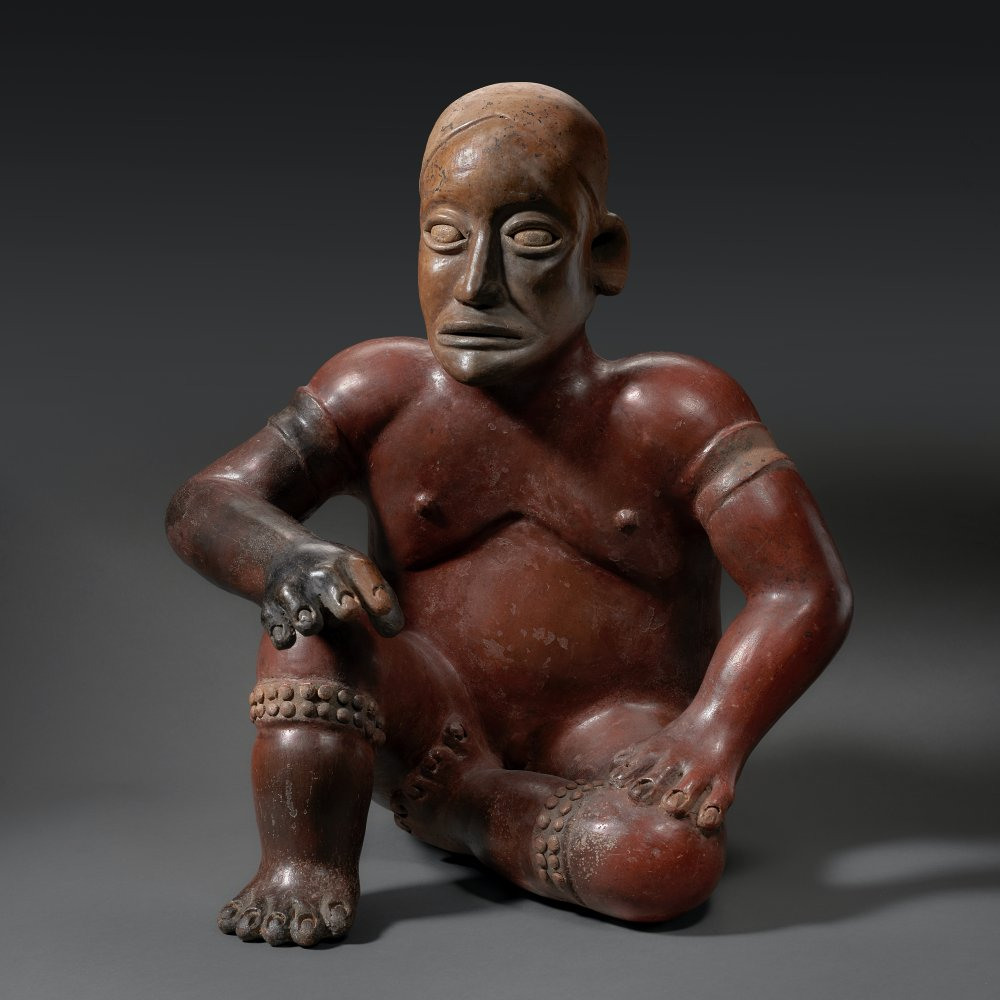Seated Male Figure, Jalisco, Mexico