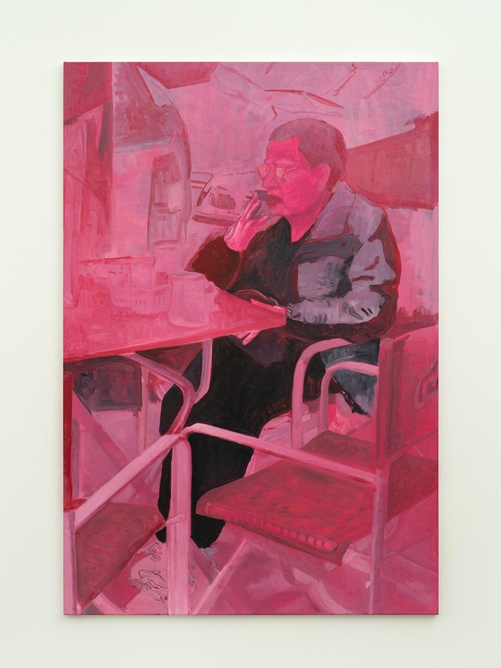 Señora rosa (sentada en el bar)