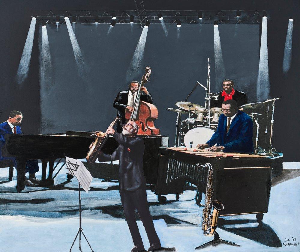 Modern jazz quartet with guest Sonny Rollins