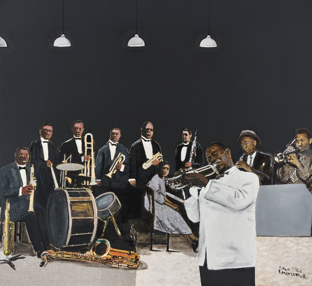 Satchmo and his band