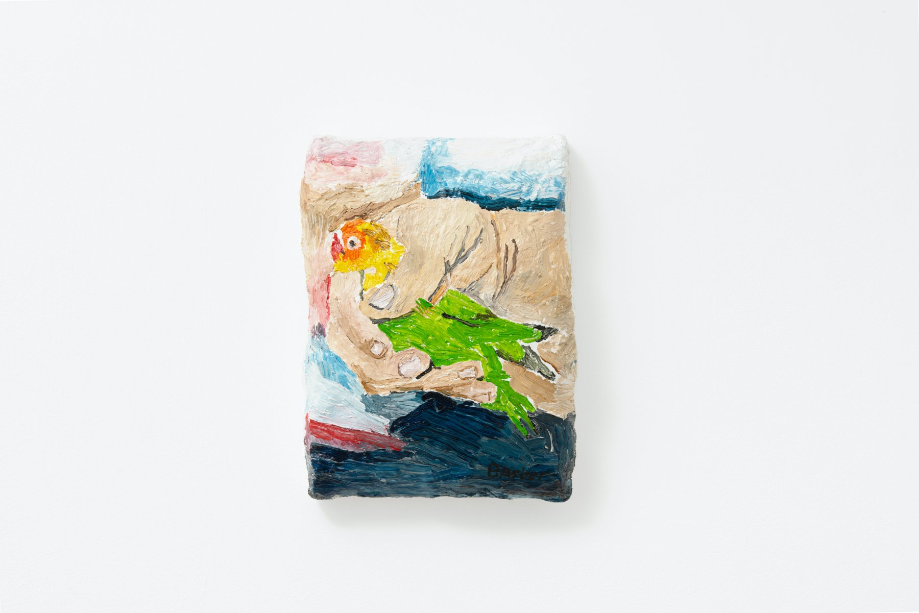 Sophie Barber, Mohamed Bourouissa Holds a Love Bird, 2021