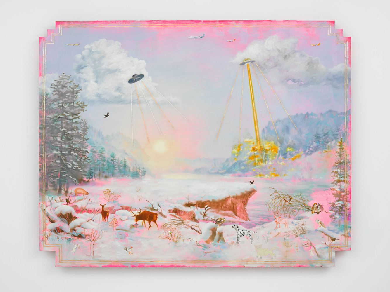 The Deer, The Doe and UFOs and Pink and Gold (December)