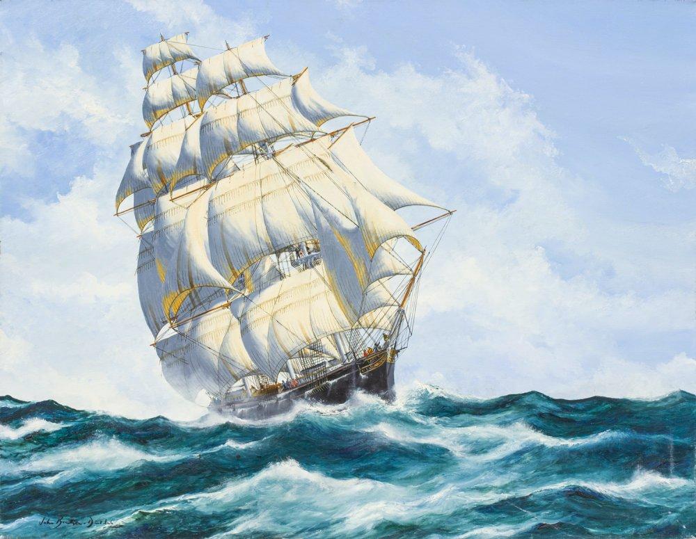 The US Clipper Ship, Empress of the Seas