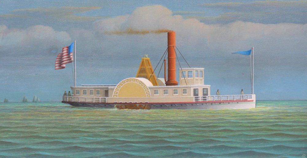 Hudson River Steamboat John E. Moore