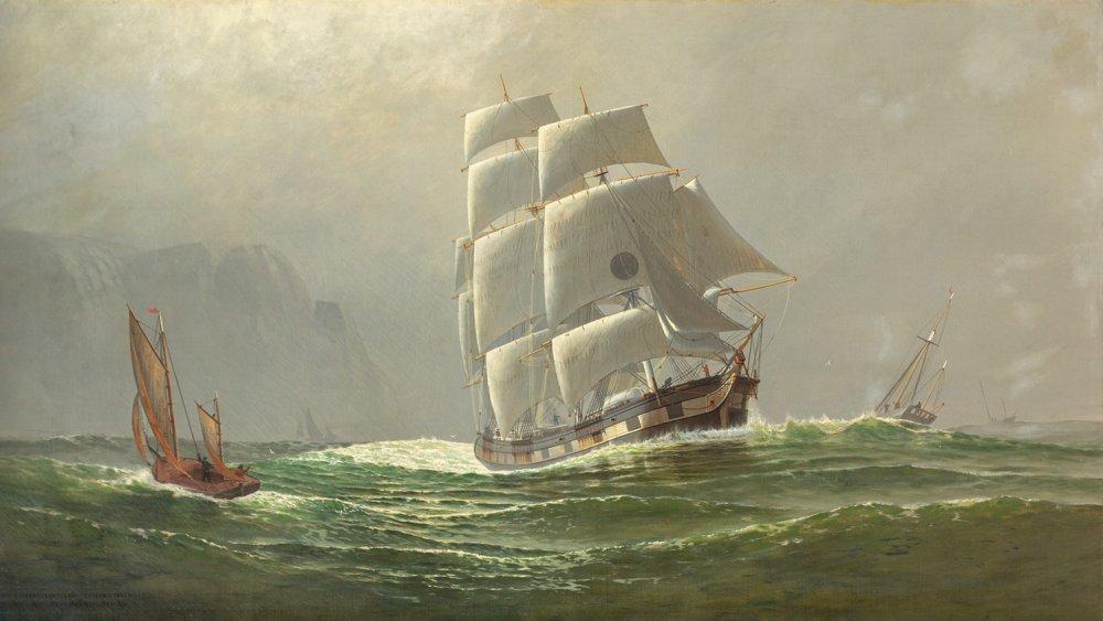 The emigrant ship, England Farewell