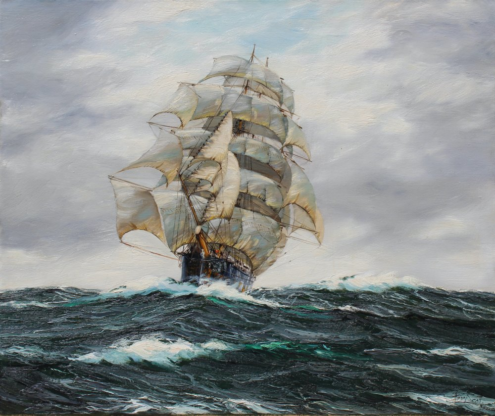 Thirty days out, the Clipper Dawpool