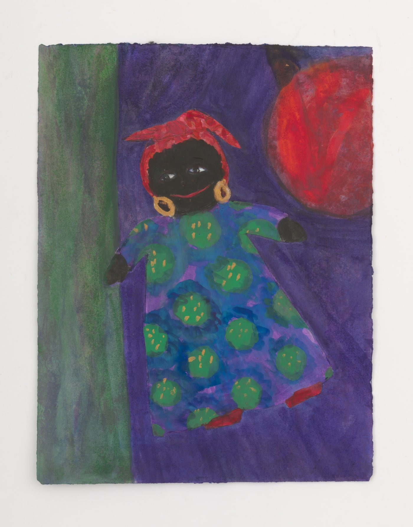 Floating Black Doll w/ Red Ball