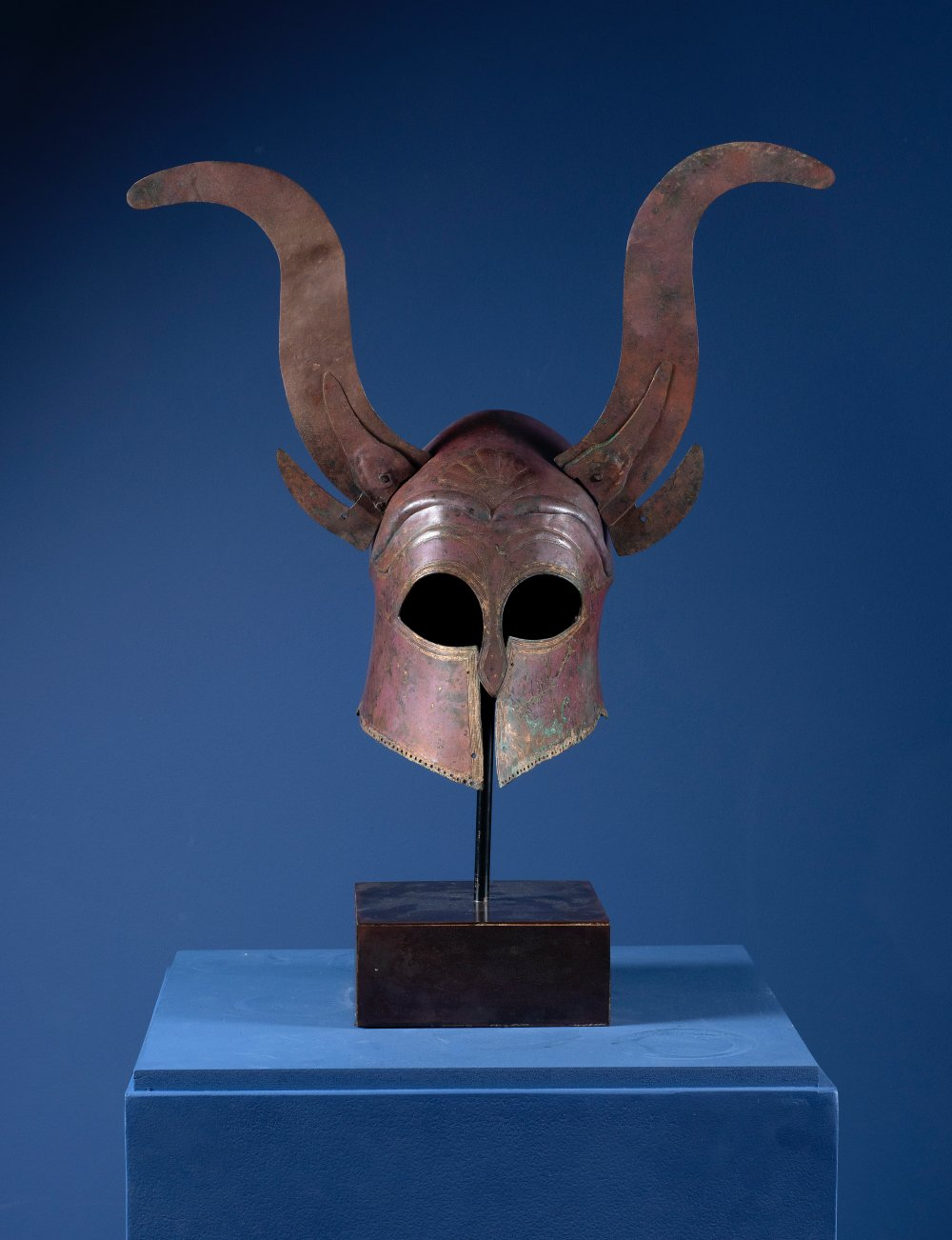 Corinthian Type Helmet with Horns, Greek, Late Archaic – Early Classical  Period, ca. 500 – 450 B.C.