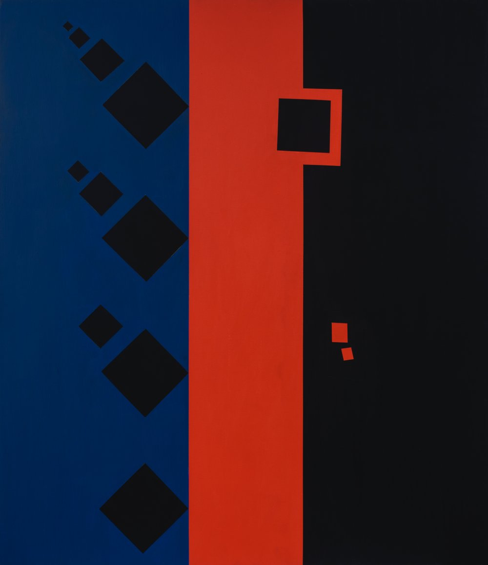Untitled (red black and blue)