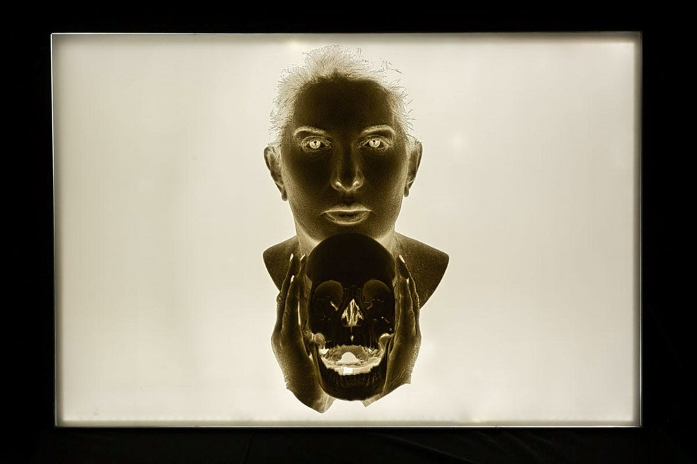 Portrait with Laughing Skull (negative)