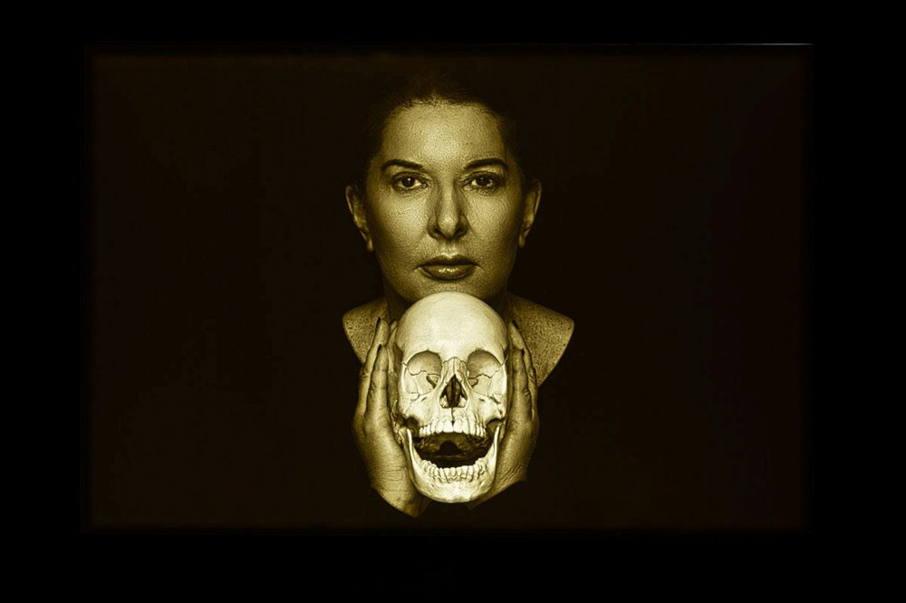 Portrait with Laughing Skull (positive)