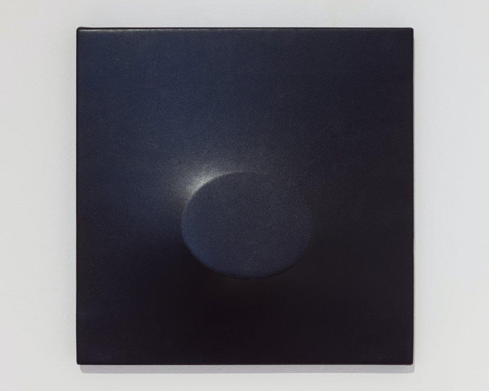 Un ovale blu
