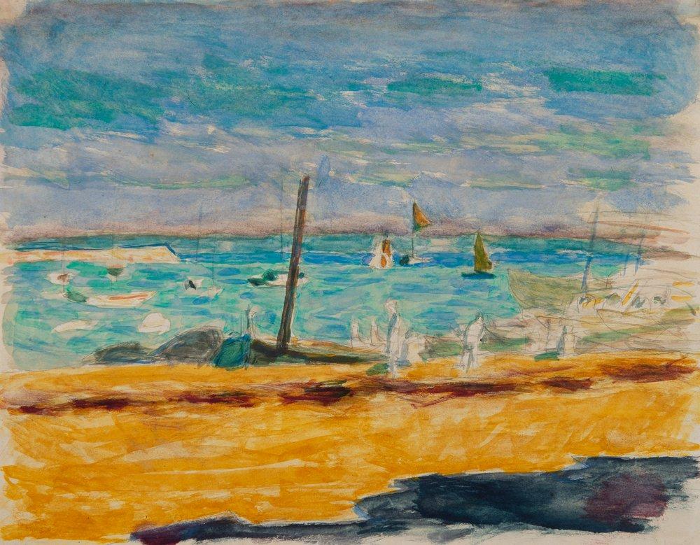 Marine dans un port du midi
