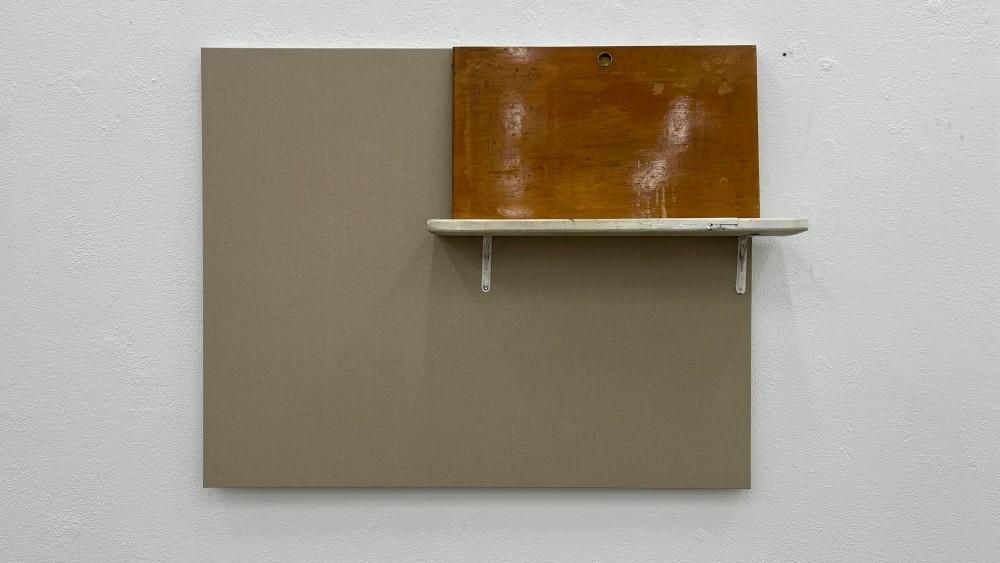 Door on a shelf (raw canvas #12)