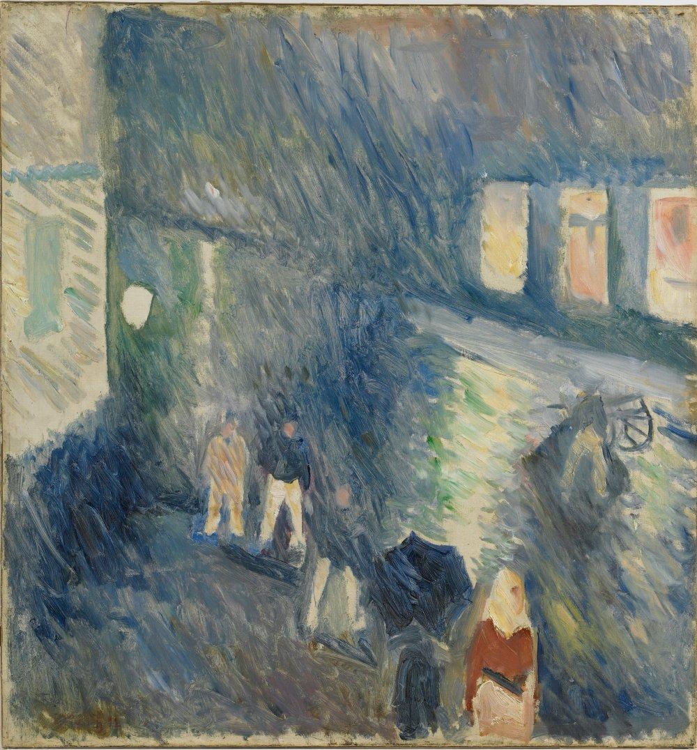 Kristian August gate i regnvær [Autumn Rain]