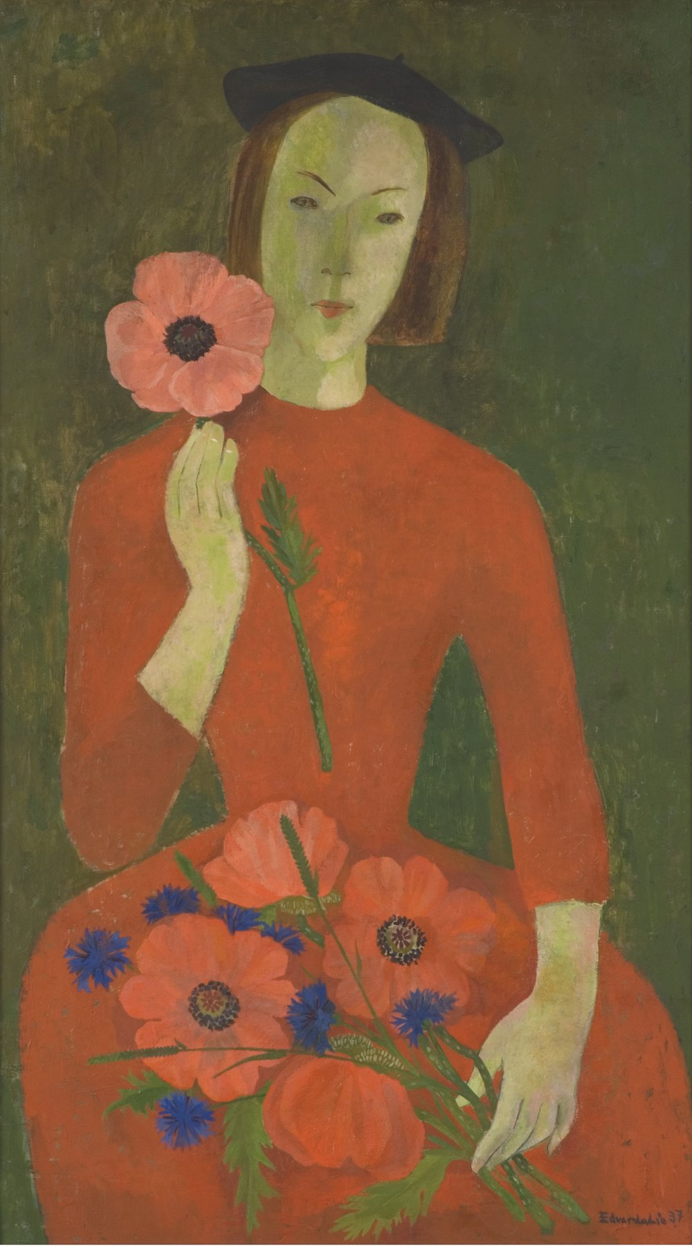 Pike med blomster [Girl With Flowers]