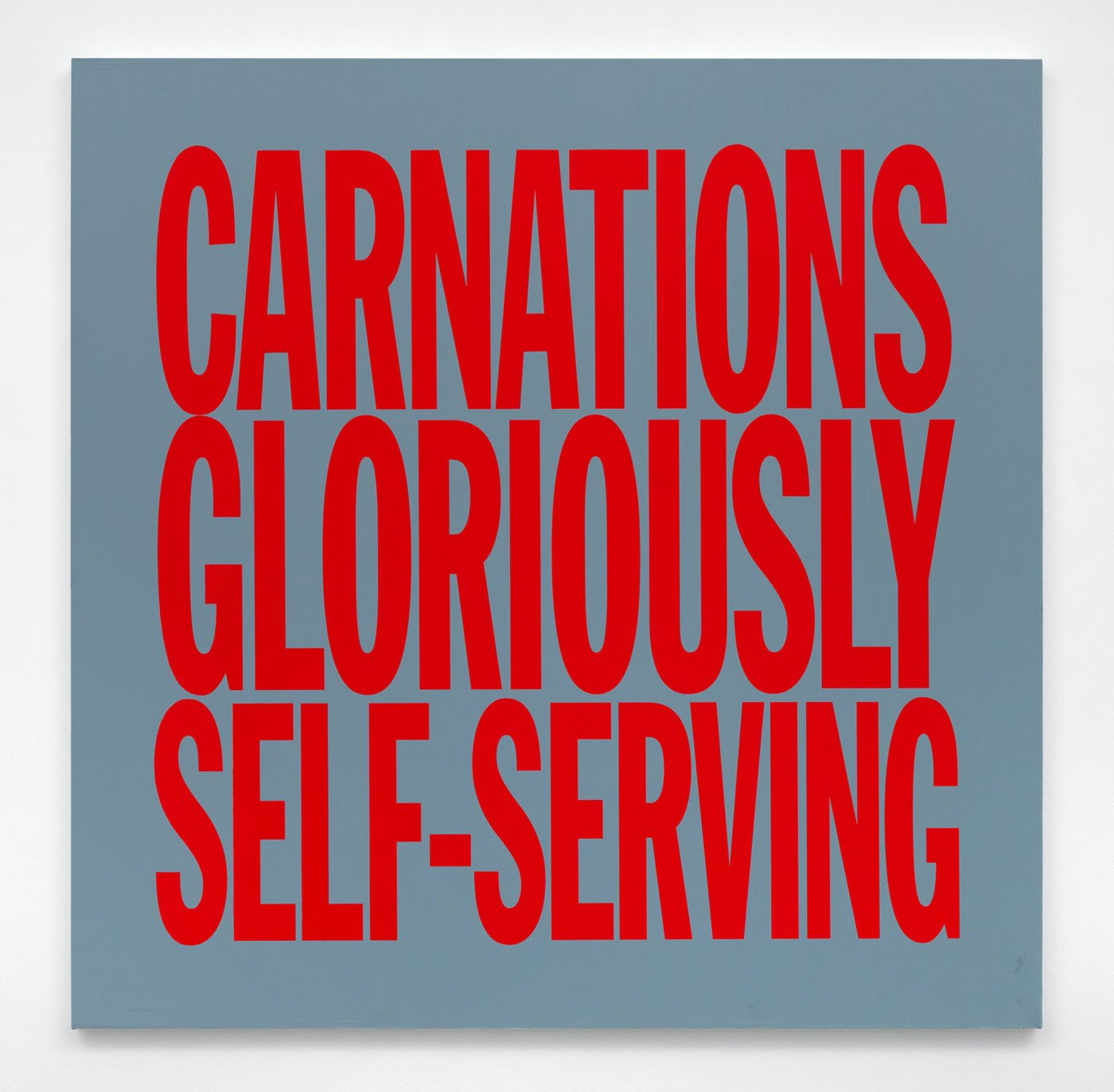 CARNATIONS GLORIOUSLY SELF-SERVING