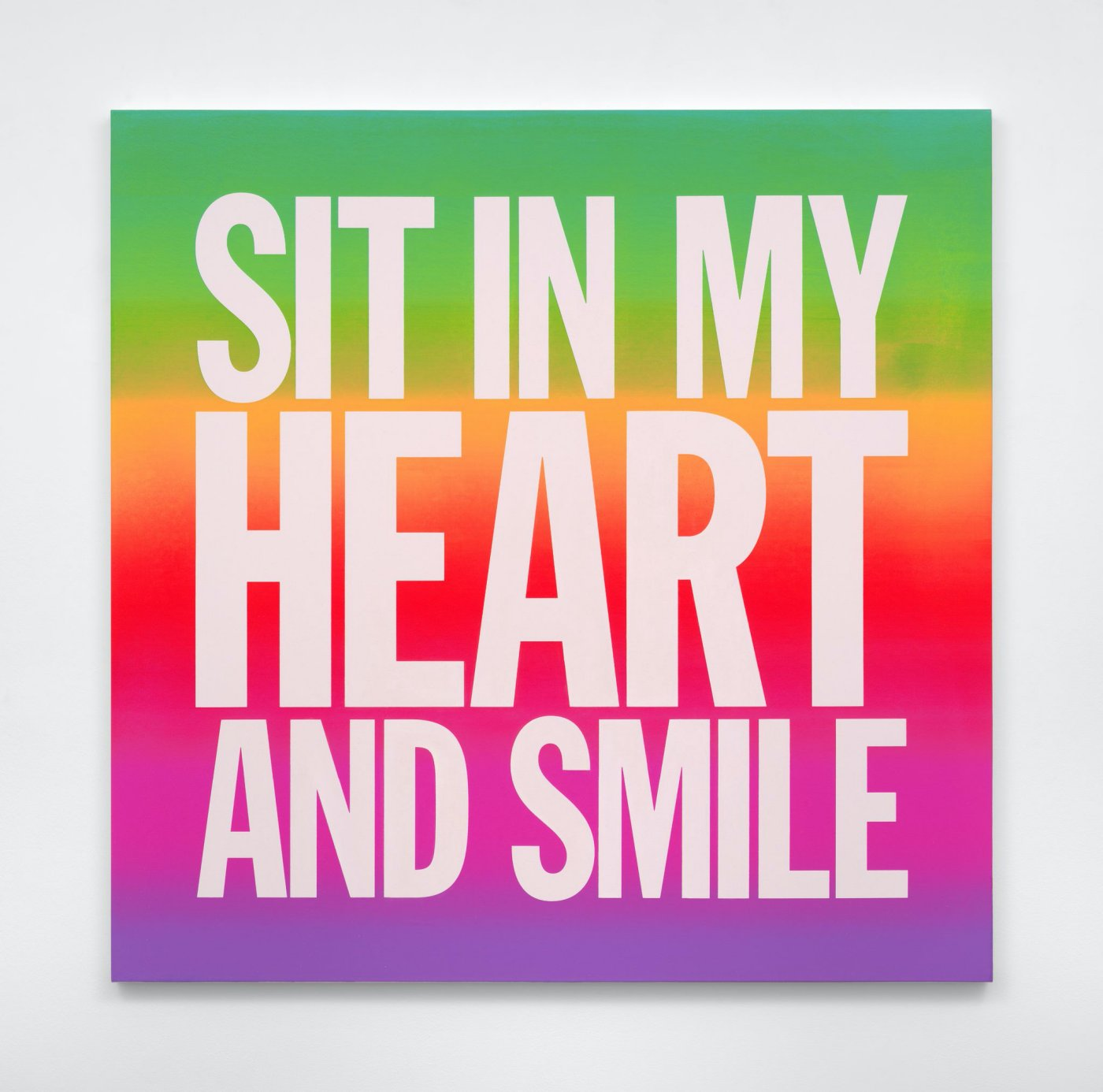 SIT IN MY HEART AND SMILE
