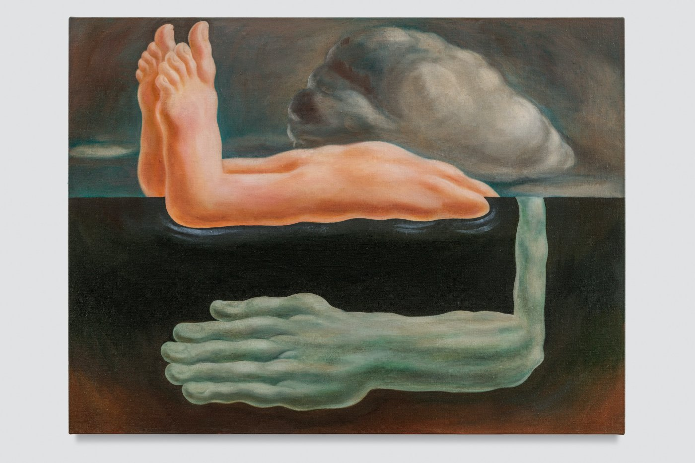 Bather with cloud